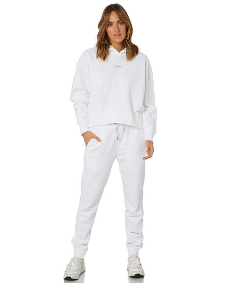 BRIGHT WHITE WOMENS CLOTHING CALVIN KLEIN HOODIES + SWEATS - J20J215462YAF
