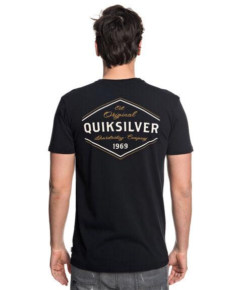BLACK MENS CLOTHING QUIKSILVER TEES - EQYZT04957KVJ0