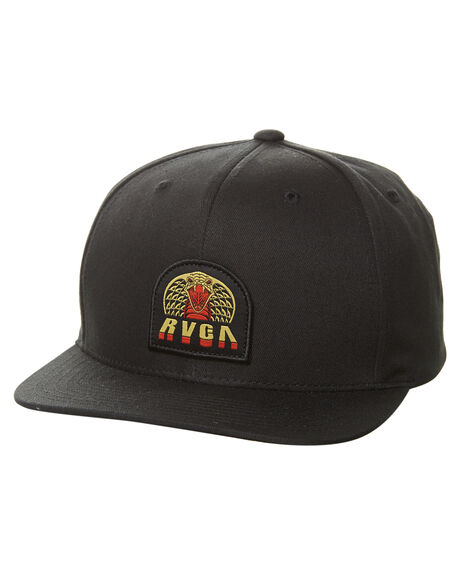 BLACK MENS ACCESSORIES RVCA HEADWEAR - R171565ABLK