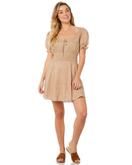 BEIGE WOMENS CLOTHING MINKPINK DRESSES - MP1804459BEI
