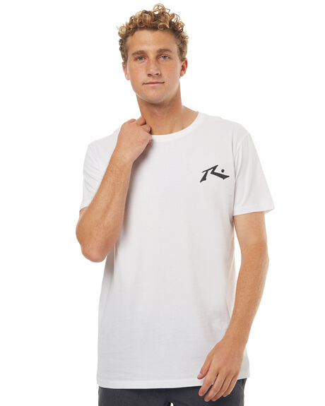 WHITE BLACK MENS CLOTHING RUSTY TEES - TTM1744WHT