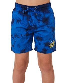 BLUEY TYE DYE KIDS BOYS SANTA CRUZ BOARDSHORTS - SC-YBD9277BLUTD