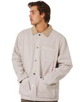 WHITE SAND MENS CLOTHING STUSSY JACKETS - ST096507WHTSD