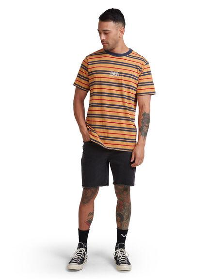 GOLDENROD MENS CLOTHING RVCA TEES - RV-R117046-GO6