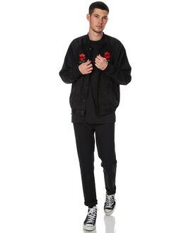 BLACK MENS CLOTHING STUSSY JACKETS - ST076511BLK