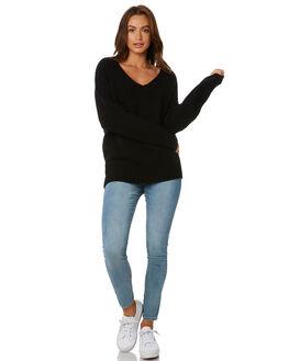 BLACK WOMENS CLOTHING RUSTY KNITS + CARDIGANS - CKL0334BLK