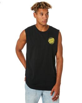 BLACK MENS CLOTHING SANTA CRUZ SINGLETS - SC-MTC9261BLK