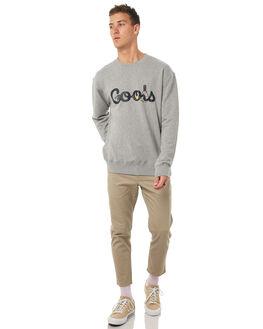 GREY MELANGE MENS CLOTHING BARNEY COOLS JUMPERS - 400-MC4GRYM