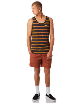 CHARCOAL MENS CLOTHING GLOBE SINGLETS - GB01812010CHAR