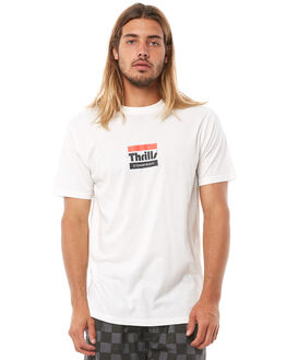 DIRTY WHITE OUTLET MENS THRILLS TEES - TH8-118ADWHT