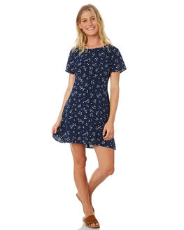 NAVY DITSY PRINT WOMENS CLOTHING ALL ABOUT EVE DRESSES - 6426040PRT2