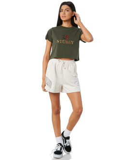 FLIGHT GREEN WOMENS CLOTHING STUSSY TEES - ST195019FLIGH