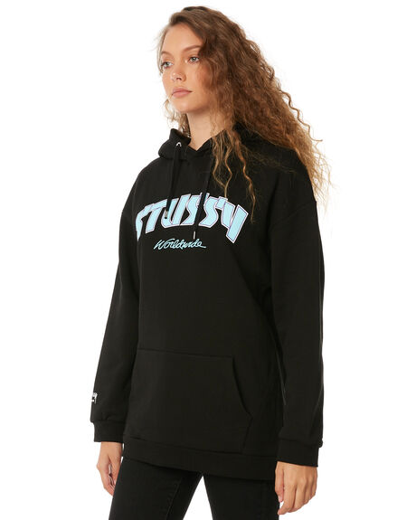 BLACK WOMENS CLOTHING STUSSY JUMPERS - ST186314BLK