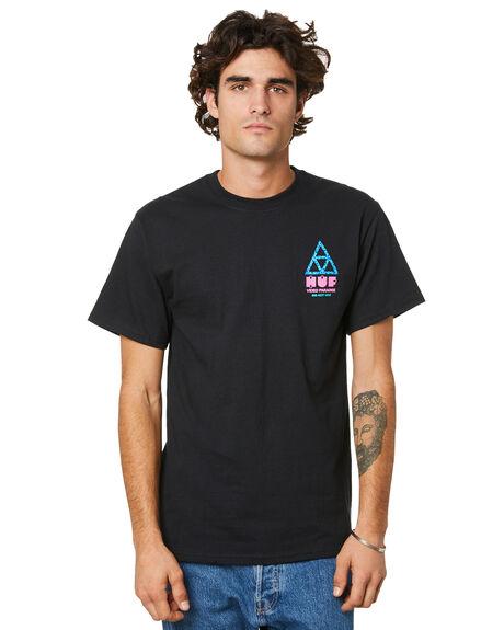 BLACK MENS CLOTHING HUF TEES - TS01411BLACK