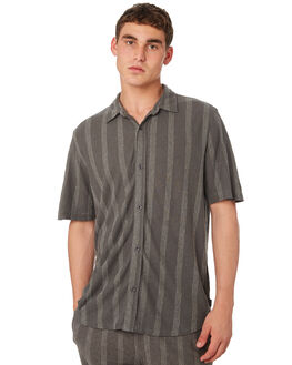 CEMENT STRIPE MENS CLOTHING THRILLS SHIRTS - TS8-203BZCMSTR