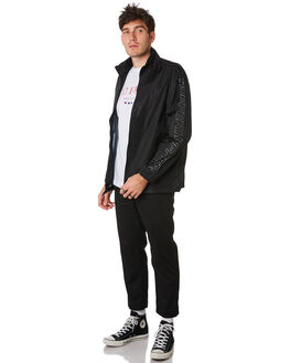 BLACK MENS CLOTHING HUFFER JACKETS - MRJA93S1601BLK