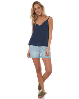 DRESS BLUES WOMENS CLOTHING ROXY FASHION TOPS - ERJWT03180BTK0