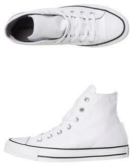 METALLIC WHITE WOMENS FOOTWEAR CONVERSE HI TOPS - 561709MWHT