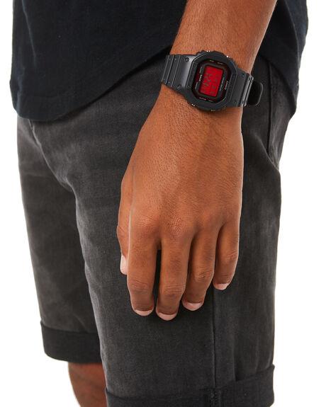 BLACK RED MENS ACCESSORIES G SHOCK WATCHES - GW-B5600AR-1DRBLKRD