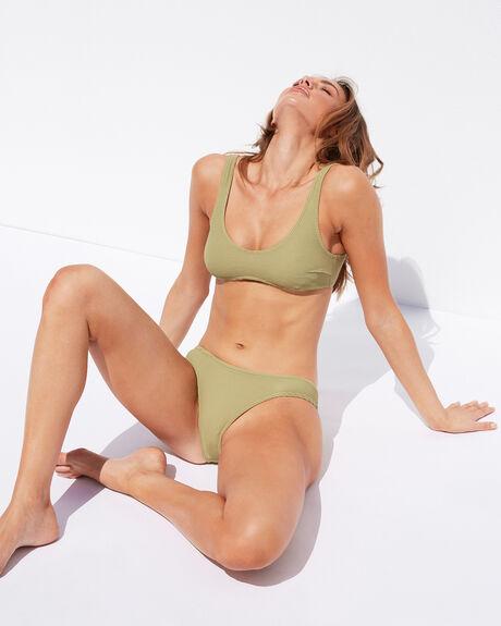 ALOE GREEN WOMENS SWIMWEAR SWELL BIKINI TOPS - S8211331ALOGN