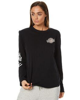 BLACK WOMENS CLOTHING HURLEY TEES - AGTLSSHP00A