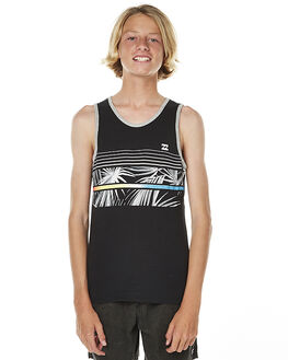 BLACK KIDS BOYS BILLABONG SINGLETS - 8561509BLK