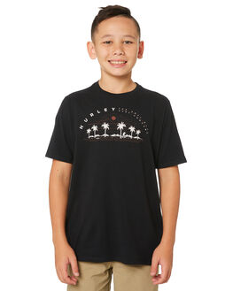 BLACK KIDS BOYS HURLEY TOPS - AQ8586-010