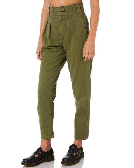 ARMY GREEN WOMENS CLOTHING THRILLS PANTS - WTA9-402FARMY