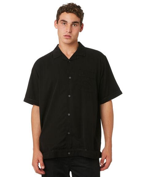BLACK MENS CLOTHING GLOBE SHIRTS - GB01824001BLK