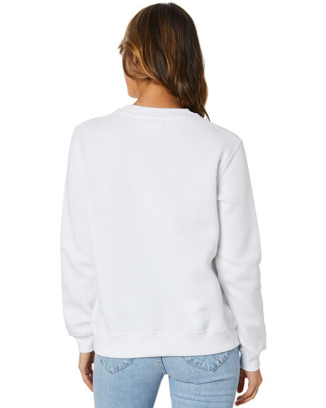 BRIGHT WHITE WOMENS CLOTHING CALVIN KLEIN HOODIES + SWEATS - J20J215485YAF