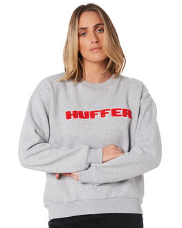 GREY MARLE WOMENS CLOTHING HUFFER JUMPERS - WCR01S4808GMARL