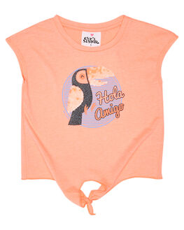 NEON CORAL KIDS TODDLER GIRLS EVES SISTER TOPS - 8021013PEAC