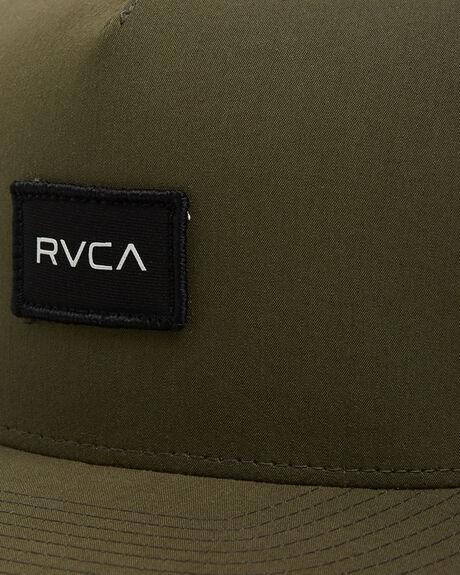 OLIVE MENS ACCESSORIES RVCA HEADWEAR - RV-R307564-OL1