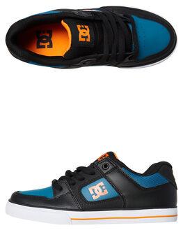 BLACK ORANGE BLUE KIDS BOYS DC SHOES SNEAKERS - ADBS300267XKNB