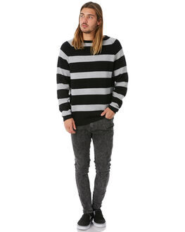 BLACK MENS CLOTHING AFENDS KNITS + CARDIGANS - M183560BLK