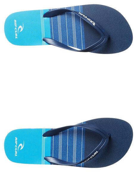 BLACK BLUE MENS FOOTWEAR RIP CURL THONGS - TCTE750107