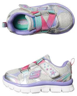 SILVER KIDS TODDLER GIRLS SKECHERS FOOTWEAR - 81829NSMLT