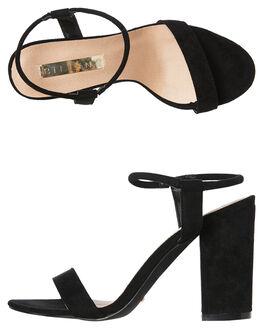 BLACK SUEDE WOMENS FOOTWEAR BILLINI HEELS - H994BLKSD