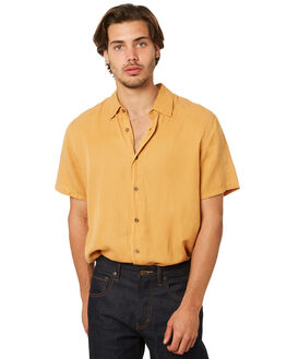 HONEY YELLOW MENS CLOTHING AFENDS SHIRTS - M191200HNYYL