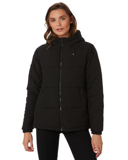 BLACK WOMENS CLOTHING HUFFER JACKETS - WPJA92S801BLK