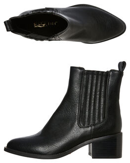 BLACK BURNISHED WOMENS FOOTWEAR BILLINI BOOTS - B925BLK