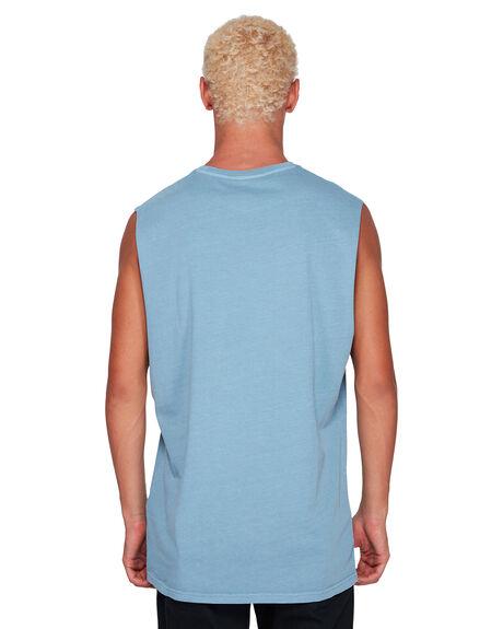 POWDER BLUE MENS CLOTHING BILLABONG SINGLETS - BB-9582506-P22