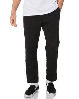 BLACK MENS CLOTHING HUFFER PANTS - MPA93S5701BLK