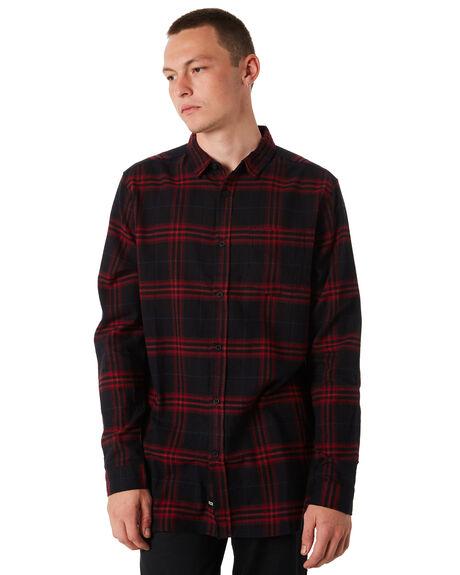 RED MENS CLOTHING GLOBE SHIRTS - GB01734006RED