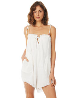 WHITE WOMENS CLOTHING RUE STIIC PLAYSUITS + OVERALLS - SA18-5-W2-Y-WHT