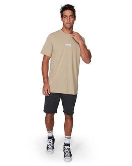 DUST YELLOW MENS CLOTHING RVCA TEES - RV-R107056-DYL