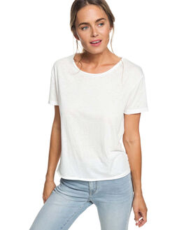MARSHMALLOW WOMENS CLOTHING ROXY TEES - ERJZT04451WBT0