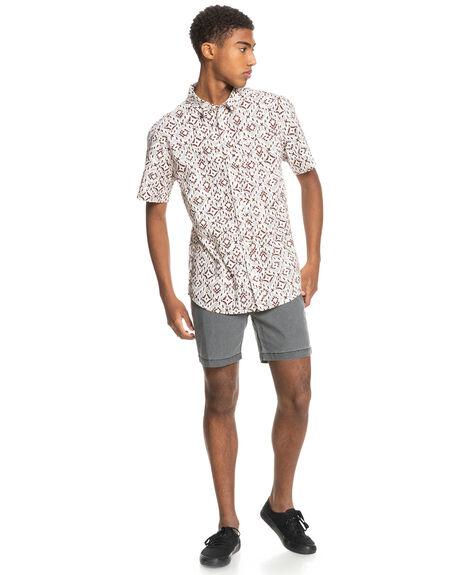 ANTIQUE WHITE BAJA B MENS CLOTHING QUIKSILVER SHIRTS - EQYWT04146-WCL6