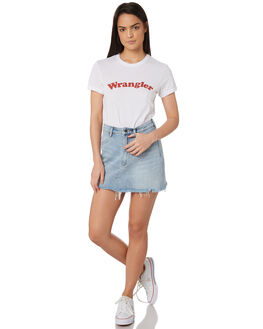 WHITE WOMENS CLOTHING WRANGLER TEES - W-951373-N60