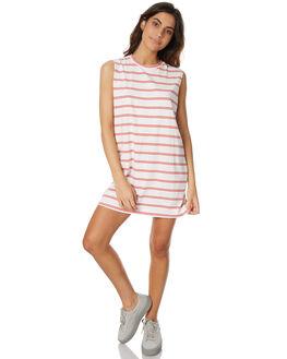 ANTIQUE WHITE WOMENS CLOTHING RVCA DRESSES - R271756WHT